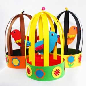 Paper Birdie Cage - Virtual Workshop