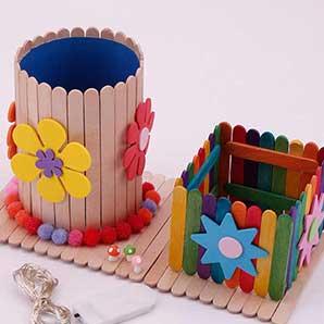 Popsicle Stick Pencil Holder - Virtual Workshop
