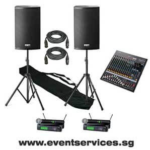 Sound System Rental for Dinner and Dances (up to 200 pax)