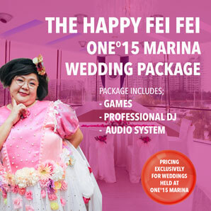 Happy Fei Fei One 15 Marina Wedding Package Wedding Show Host Emcee Event Services Singapore