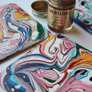 Marble Paint Coaster Virtual Workshop - DIY Workshop - Virtual Craft Workshops - Event-Services-Singapore